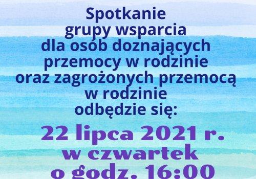 Spotkanie grupy wsparcia w lipcu
