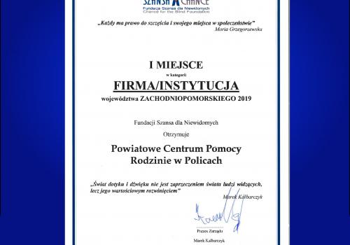 PCPR uhonorowany I miejscem w konkursie IDOL!